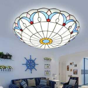 シーリングライト ステンドグラスランプ 天井照明 3灯