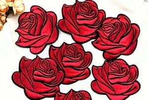 刺繍ワッペンアイロンワッペン 薔薇 ばら