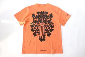 (XL)Chrome Hearts VINE DGR T-SHRTクロムハーツダガープリント半袖TシャツMatty Boyマティーボーイコラボ商品Orange