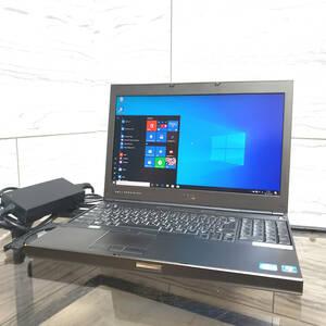 ワークステーション DELL PRECISION M4600 Core i5-2540M 4GB SSD:32GB(mSATA) + HDD:320GB 高解像度:フルHD NVIDIA Quadro Win10 #470