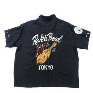 送料込み 当時物 オリジナル CREAM SODA クリームソーダ CS ロゴ刺繍 ボウリングシャツ半袖レーヨン