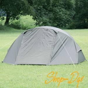 BUNDOK ソロ ドーム テント カーキ 1人用 ツーリング キャンプ 災害 避難 防災 プライベート確保 収納ケース付 コンパクト収納
