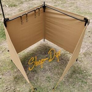 【風から守る】焚火 陣幕 防風 風よけ 目隠し ウィンドスクリーン ソロ キャンプ アウトドア ツーリング