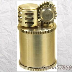 【日本製】ミニ メカニカル DOUGLASS 堅牢 真鍮製 オイルライター ゴールド アンティーク ビンテージ タバコ 煙管 喫煙 国産