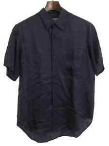 Yohji Yamamoto POUR HOMME ヨウジヤマモト プールオム 14SS ショートスリーブキュプラシャツ ブラック 2 メンズ