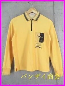 9001a115◆美品です◆吸汗速乾◆adabat アダバット ハーフジッパー 長袖ドライ ポロシャツ 1/日本製/ゴルフ/メンズ/男性/紳士