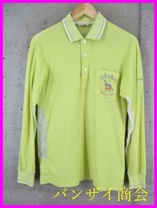 9101c25◆良品です◆吸汗速乾◆adabat アダバット 長袖ドライ ポロシャツ 46/ゴルフシャツ/メンズ/男性/紳士