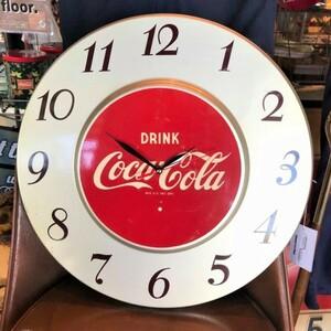 【アメリカ ヴィンテージ】コカ・コーラ Coca Cola ウォールクロック 当時物