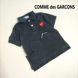 900円スタート★COMME des GARCONS コムデギャルソン ポロシャツ ワンポイント アイコン 半袖 トップス ハート ダメージ加工