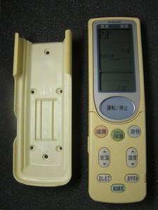 HITACHI 日立 エアコン用 リモコン RAR-3B1(壁掛け用ホルダー付き) 単4電池タイプ 【 中古品 】