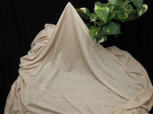 新入荷!掘り出し品!日本製!高級ブランド!なかなかお安く手に入らない!上質!強撚糸リネン100%薄クリーム&薄ブロンド色!140cm巾×1.5m