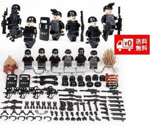 LEGO レゴ ブロック 互換 SWAT 特殊部隊 アンチテロ部隊 カスタム ミニフィグ 6体セット 大量武器・装備・兵器付き D219