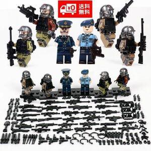 LEGO レゴ ブロック 互換 ARMY ロシア軍特殊部隊 アンチテロ部隊 指揮官 カスタム ミニフィグ 6体セット 大量武器・装備・兵器付き D222