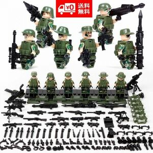 MOC LEGO レゴ ブロック 互換 ARMY WW2 ロシア軍特殊部隊 ジャングル戦 カスタム ミニフィグ 6体セット 大量武器・装備・兵器付き D226