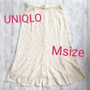UNIQLO レースタイトスカート フレアースカート
