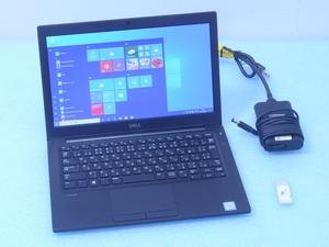 Latitude7280 SSD512GB メモリ16GB i5 7300U カメラ Win10付 デル テレワーク 中古 ノートパソコン DELL PC 管理J03