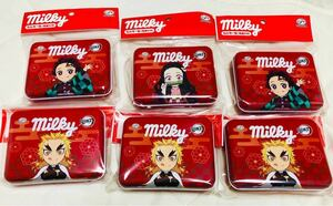 鬼滅の刃 ミルキー缶 6個スペシャルセット 煉獄杏寿郎3個 炭治郎2個 ねずこ1個