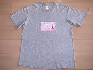 ★ 18SS SUPREME シュプリーム TV Tee テレビ Tシャツ BOX LOGO ボックスロゴ (グレー灰M)HGM