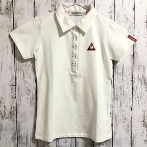 【le coq sportif golf】ルコック ゴルフ 半袖 ポロシャツ ホワイト レディース XS 送料無料!