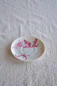 フランス リモージュ ソーサー ポーセリン /アンティークブロカントビンテージ蚤の市雑貨小物ヨーロッパインテリア食器