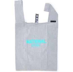 《 ナショナル麻布 オリジナル リサイクル コットン フォールディング バッグ グレー 》 エコバッグ レジ袋 紀ノ国屋 ピカール MOTTERU