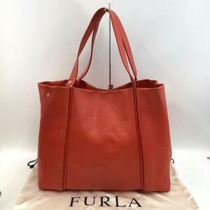 FURLA フルラ トートバッグ レザー オレンジ レディース ブランド