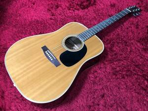 アリア Aria W180 アコースティックギター ナチュラル バンド 弾き語り 楽器 動作確認済み