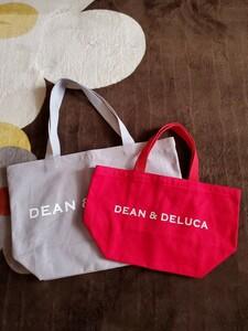 新品★DEAN&DELUCA ディーン&デルーカ トートバッグエコバッグ Sサイズ+Lサイズ 2枚セット★