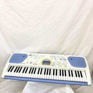 中古 CASIO カシオ 電子キーボード 光ナビゲーション LK-101 61鍵盤 グレー ブルー ポップカラー 電子ピアノ 鍵盤楽器 H15605