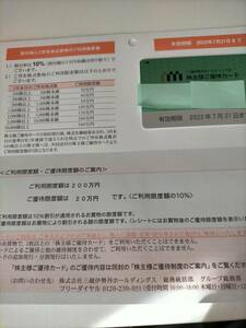 三越伊勢丹 株主優待カード 限度額200万円 2022年7月31日まで有効 男性名義 簡易書留無料