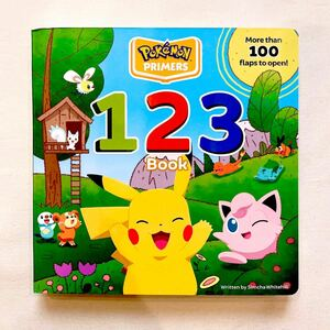 新品/ポケモン 数字仕掛け付き 英語絵本 知育玩具 ピカチュウ ソード シールド