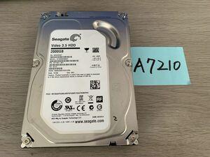 送料無料 Seagate Video HDD ST2000VM003-1ET164 2TB 3.5インチ SATA HDD2TB 使用時間4202H★ビデオ等用A7210