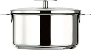 ステンレス鋼のポットガラスフィットクッカー20 cmガスストーブIHオーブン ガラス鍋 両手鍋