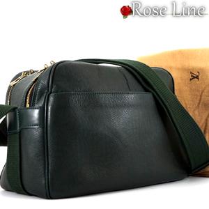 【良好品】ルイヴィトン Louis Vuitton タイガ リポーター ショルダーバッグ エピセア 深緑 鞄 斜め掛け TAIGA BAG カメラバック M30154