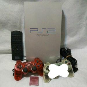 SONY PlayStation2 SCPH-39000 本体 セット(シルバー)