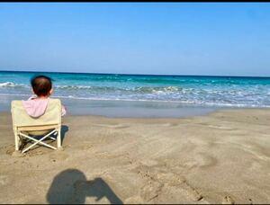 お花見 夏 キャンプ用 ベビー椅子 折り畳み式 ベビーチェア おしゃれ 韓国