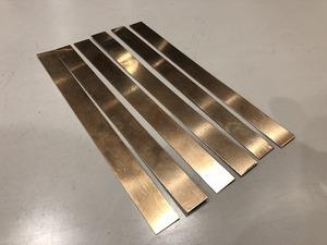 【6枚セット】リン青銅板  200mm×16mm 厚0.5mm リン青銅プレート ・ ハンドメイド・アクセサリー【スマートレター発送 180円】