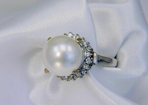 11mm shell pearl ring 11 mm / White / white
