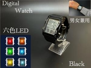 スポーツ腕時計 腕時計 時計 アナデジ式 LED デジタル ミリタリー 自転車 スポーツ アウトドア キャンプ ランニング ブラック 22