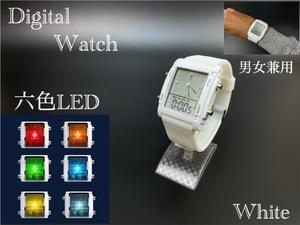 スポーツ腕時計 腕時計 時計 アナデジ式 LED デジタル ミリタリー 自転車 スポーツ アウトドア キャンプ ランニング ホワイト 22