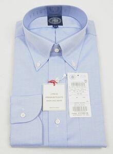 ●定番J.PRESS長袖ボタンダウンシャツ(41-85,薄青,HW0031,プレミアムプリーツ(形態安定),日本製)新品
