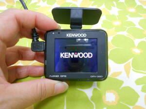 A-445★KENWOOD ケンウッド DRV-320 ドライブレコーダー 2.0V型 8GBHCカード付き 2017年製★シガーソケット電源