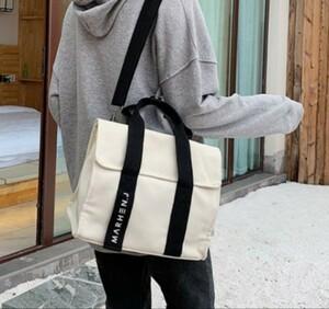 男女兼用 ショルダーバッグ モノトーン ハンドバッグ 鞄 レディース メンズ2
