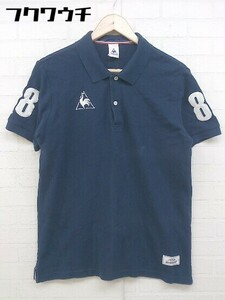 ◇ le coq sportif ルコックスポルティフ 半袖 ポロシャツ サイズL ネイビー メンズ