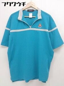 ◇ le coq sportif ルコックスポルティフ 半袖 ポロシャツ サイズLL ブルー メンズ