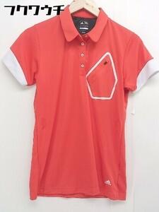 ◇ adidas golf アディダス ゴルフ COOL MAX 半袖 ポロシャツ サイズ OT/XG レッド ホワイト レディース