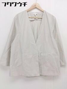 ◇ COS コス ノーカラー 長袖 ジャケット サイズ EU 42 CN 170/96A ライトグレー レディース