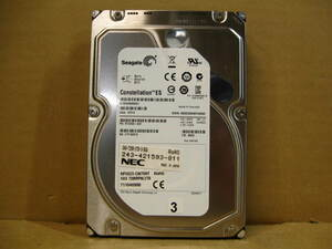 ▽SEAGATE ST2000NM0001 2TB SAS2.0 7200rpm 64MB 3.5型 内蔵HDD 中古 Constellation ES.1 NEC NF5023-CM708T