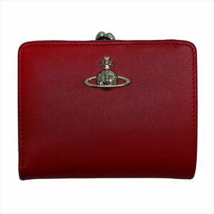 ヴィヴィアンウエストウッド がま口 二つ折り財布 FLORENCE  レッド
