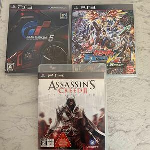 PS3 ゲームソフト アサシン クリード2 GRAN TURISMO 5 ガンダム 3枚セット (R166)